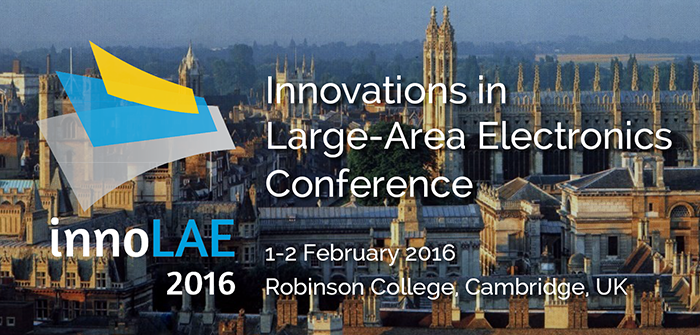 innoLAE 2016 Innovations in Large Area Electronics